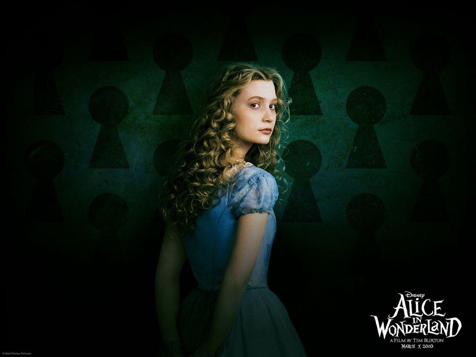 blondes women Disney Company movies Alice in Wonderland Mia Wasikowska Alice Kingsleigh wallpaper