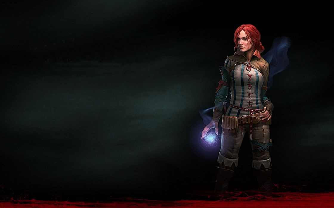 women redheads The Witcher magic wizards The Witcher 2: Assassins of Kings Triss Merigold wallpaper