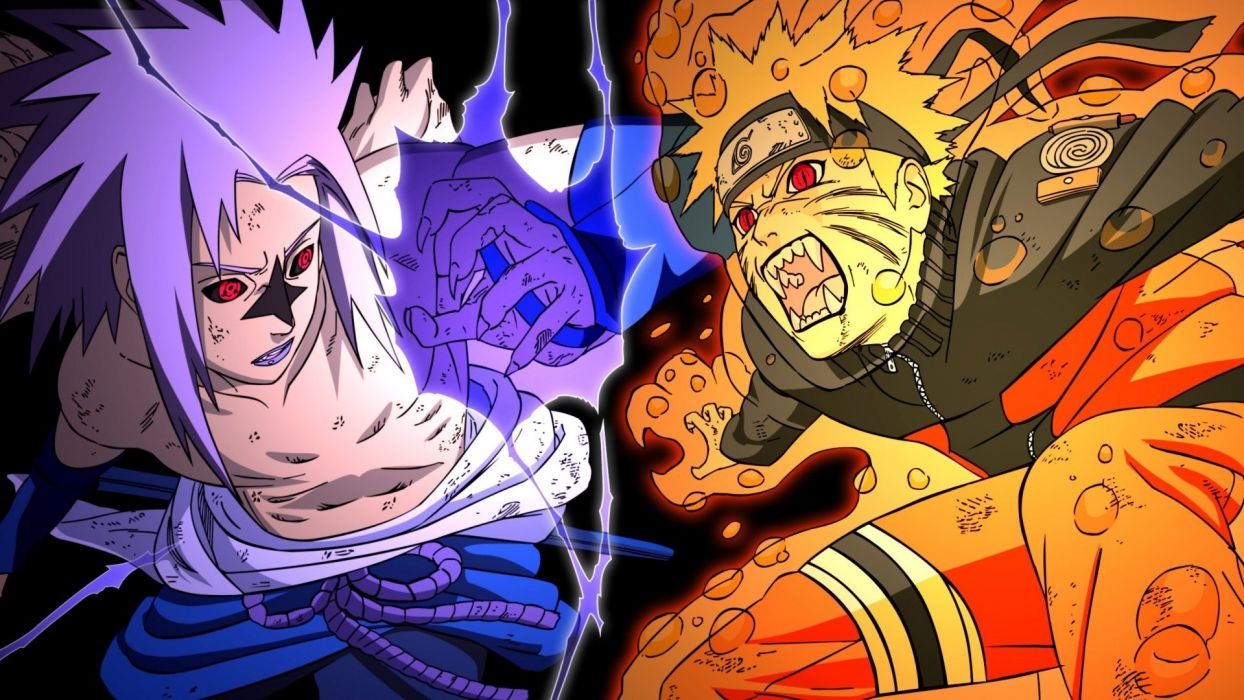 Uchiha Sasuke Naruto: Shippuden Sharingan Uzumaki Naruto Jinchuuriki wallpaper