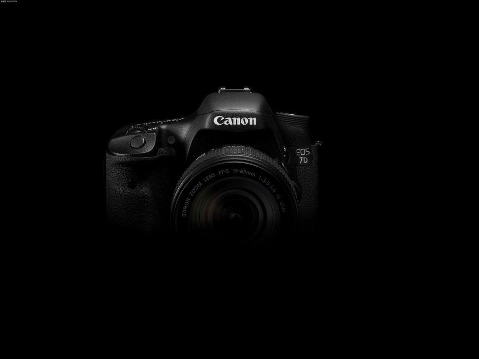 cameras cannons brands black background wallpaper