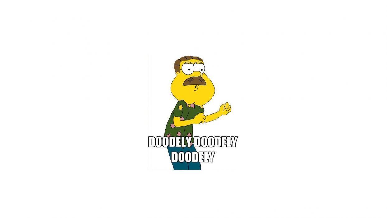Family Guy The Simpsons Ned Flanders crossovers Glenn Quagmire wallpaper