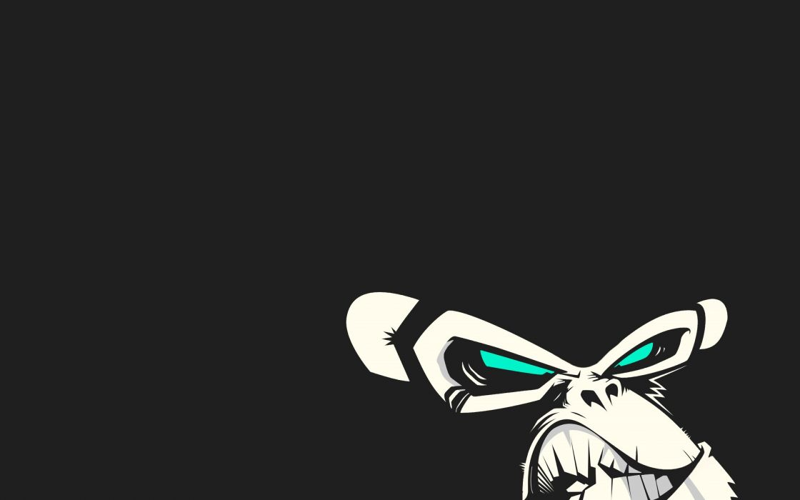 minimalistic vectors monkeys faces wallpaper