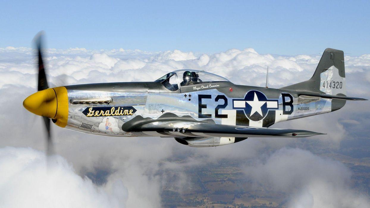 aircraft Warbird P-51 Mustang wallpaper