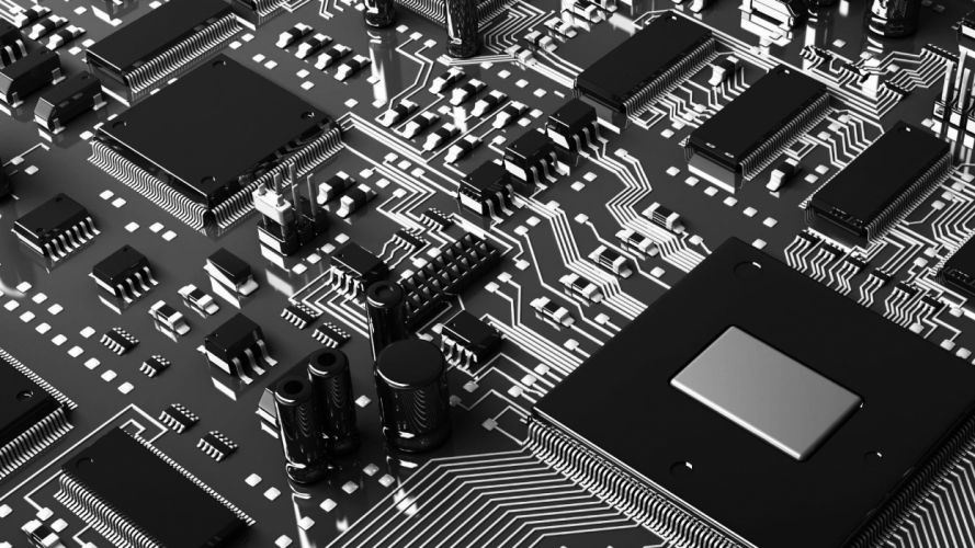 black and white Noir motherboards circuits wallpaper