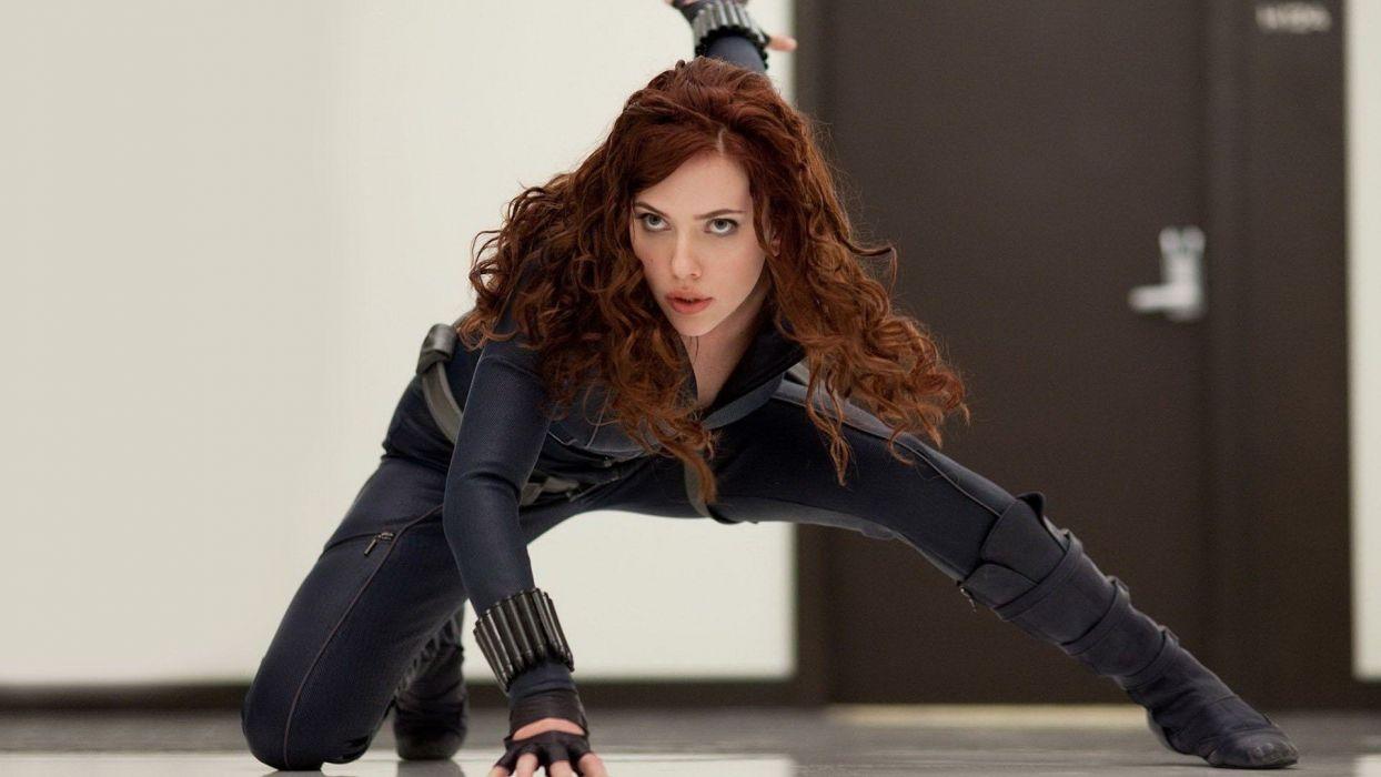 women Scarlett Johansson actress Black Widow Natasha Romanoff Iron Man 2 wallpaper