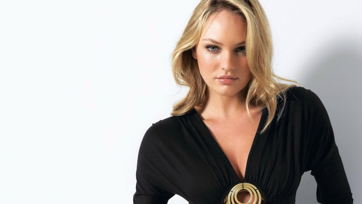 blondes women blue eyes models Candice Swanepoel South African wallpaper