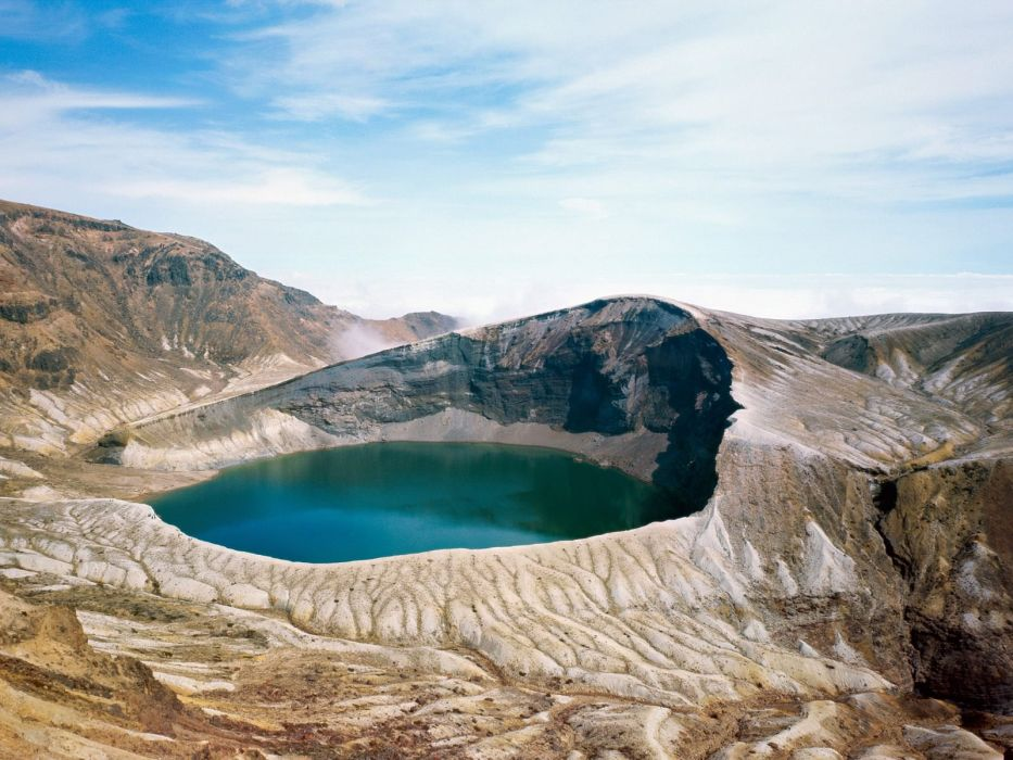 mountains landscapes crater lakes skyscapes wallpaper