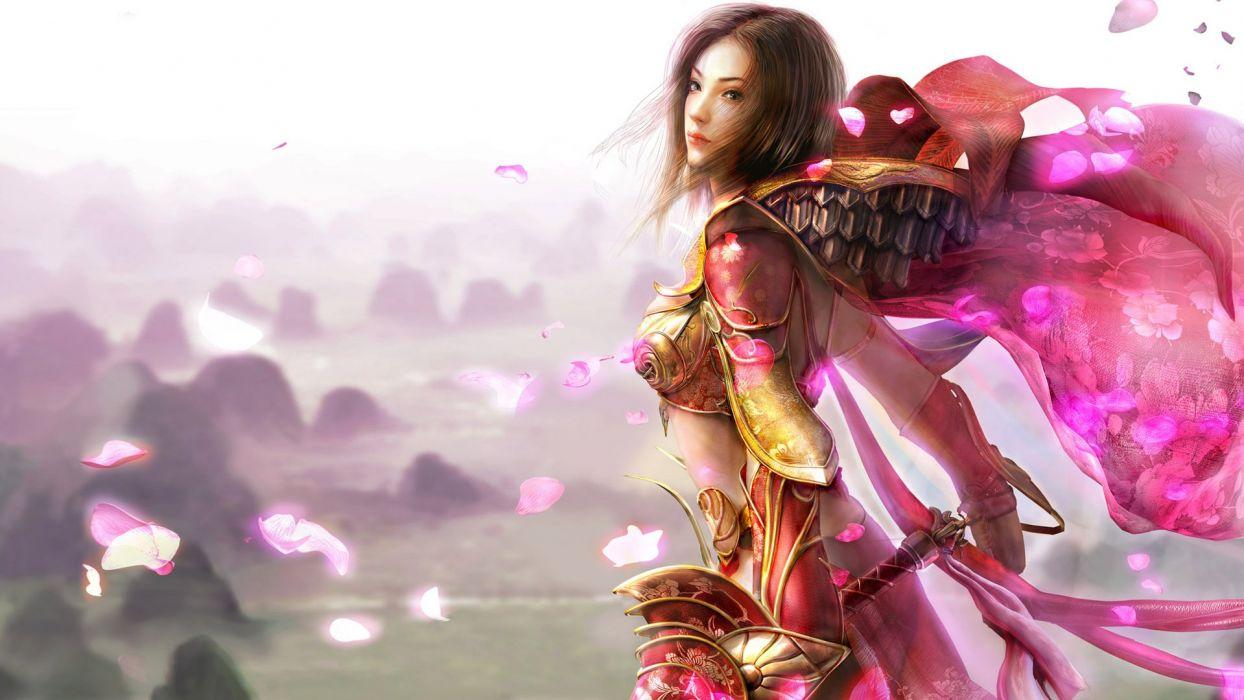CGI fantasy art armor artwork wallpaper