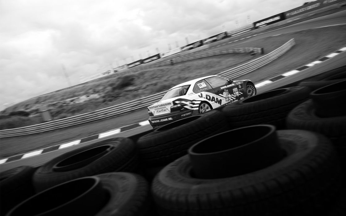 cars monochrome car tires greyscale race tracks wallpaper