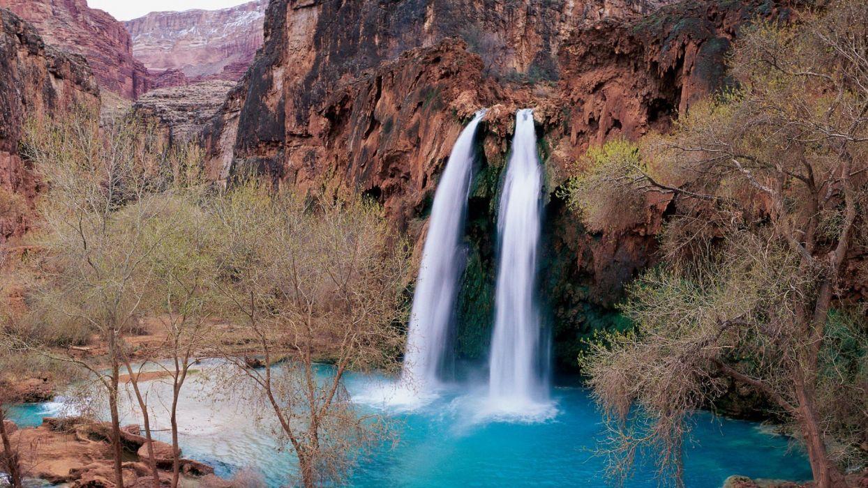 falls Arizona waterfalls wallpaper