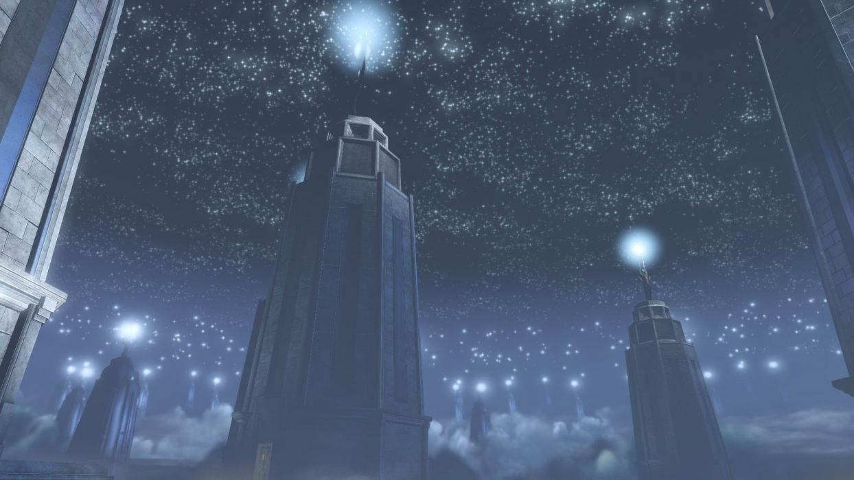 night stars lighthouses endless infinity Bioshock Infinite time wallpaper