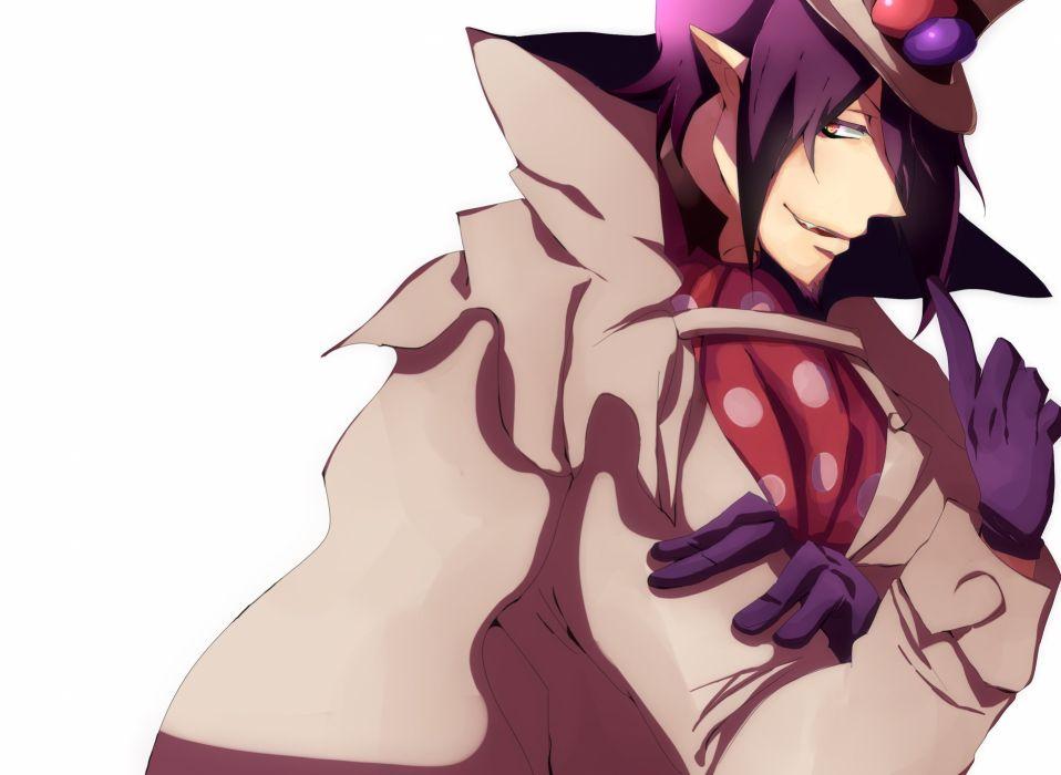 gloves purple hair beard anime anime boys Ao no Exorcist Mephisto Pheles hats wallpaper