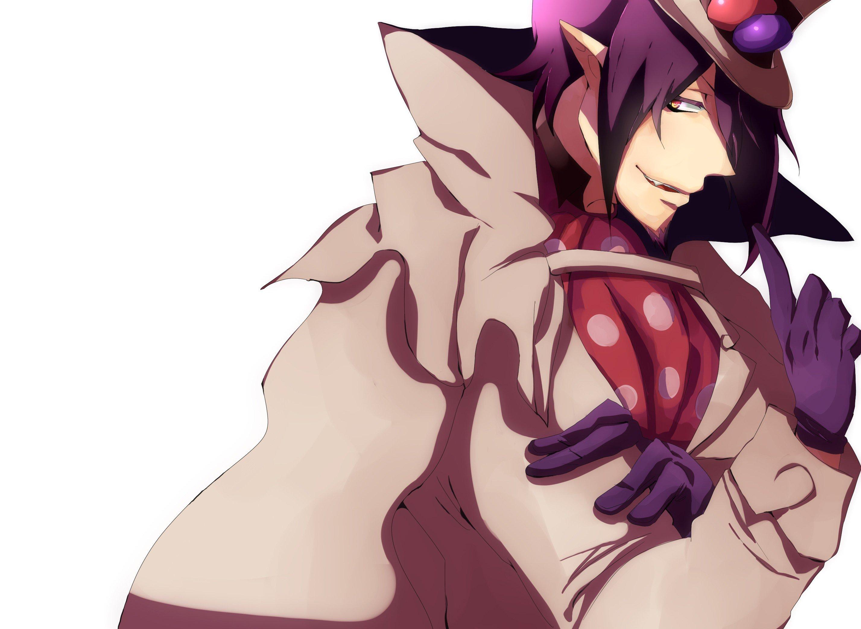 Gloves Purple Hair Beard Anime Boys Ao No Exorcist Mephisto Pheles Hats Wallpaper
