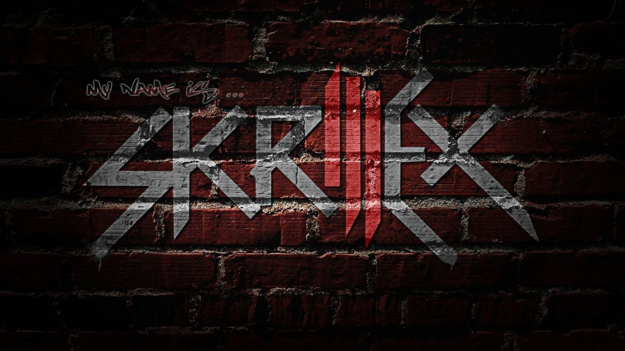 abstract logos Sonny Moore skrillex logo Skrillex wall painting wallpaper