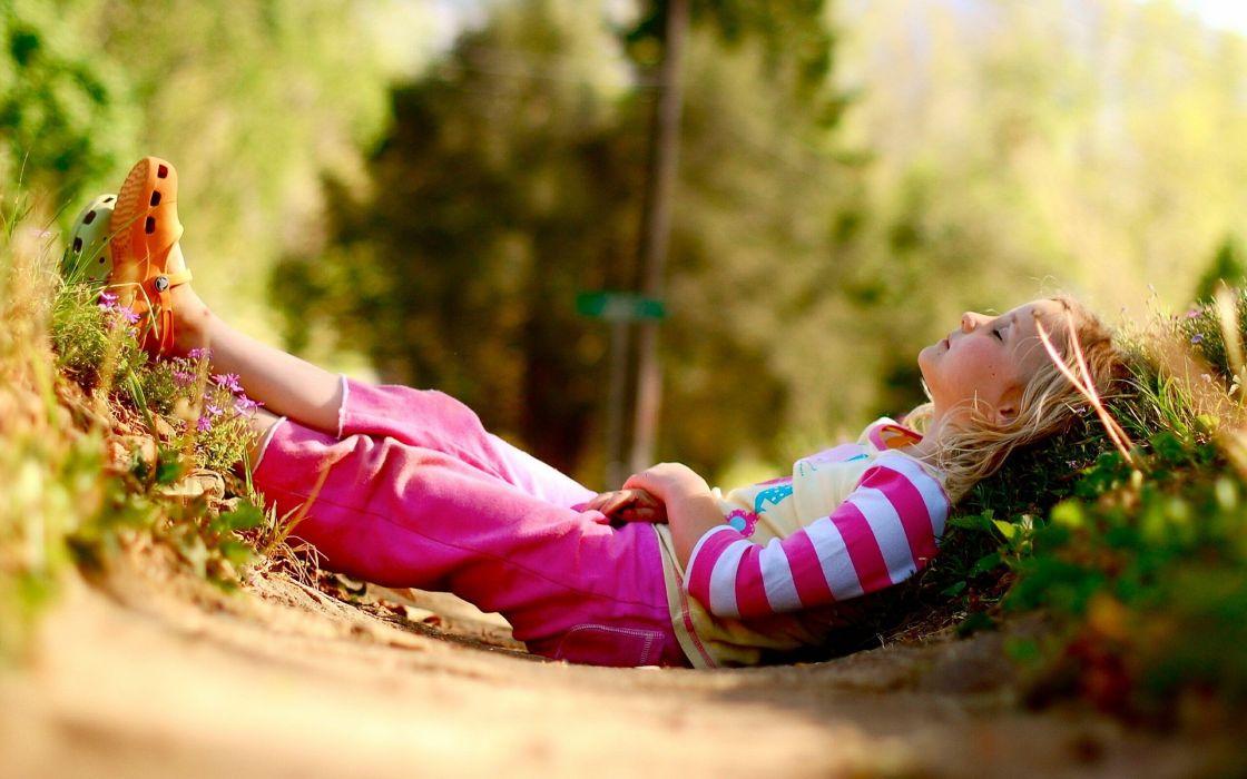 nature summer thigh highs sunlight relaxing striped clothing children wallpaper