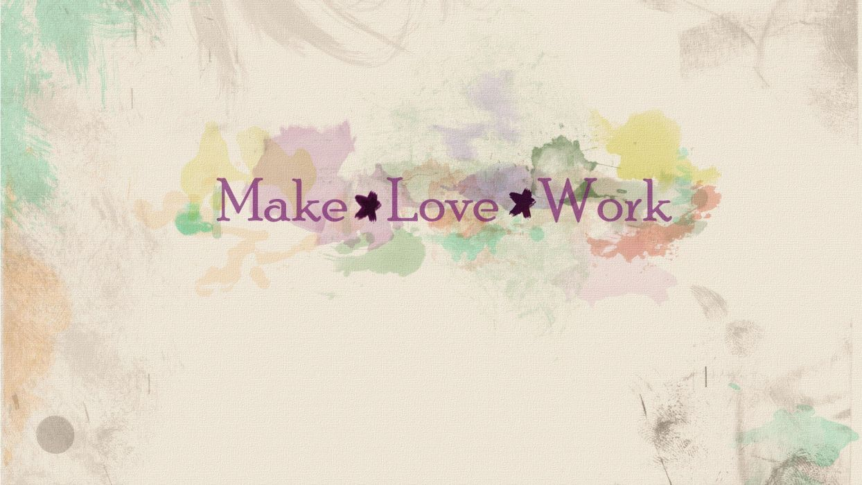 work love minimalistic text typography artwork indie typefaces Rock Band love you Auletta wallpaper