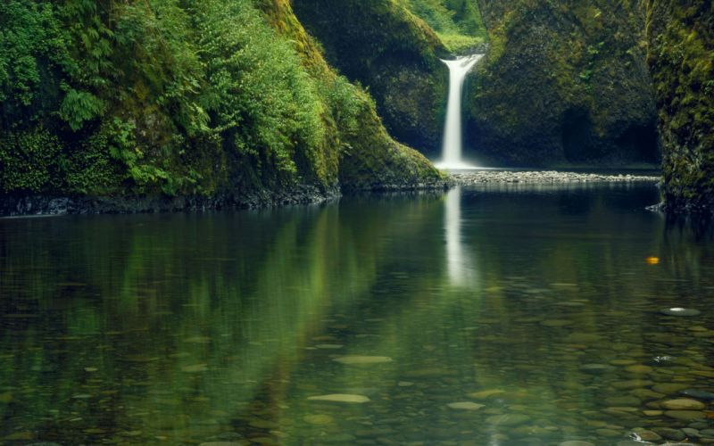 green landscapes nature lakes waterfalls wallpaper