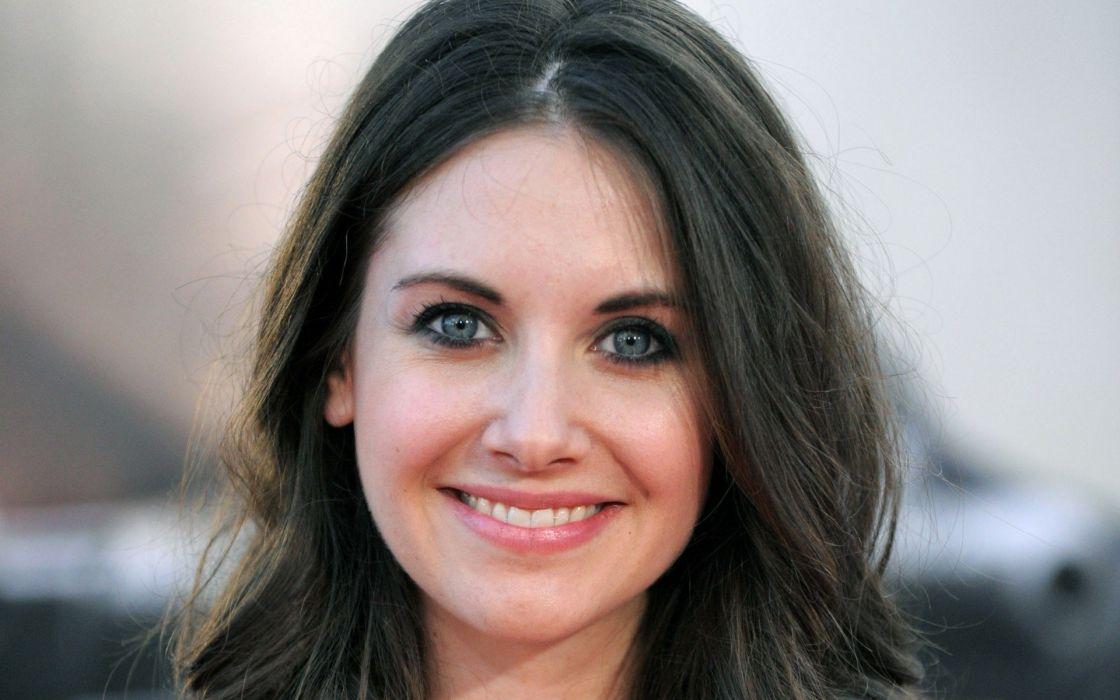 women actress smiling Alison Brie faces portraits wallpaper