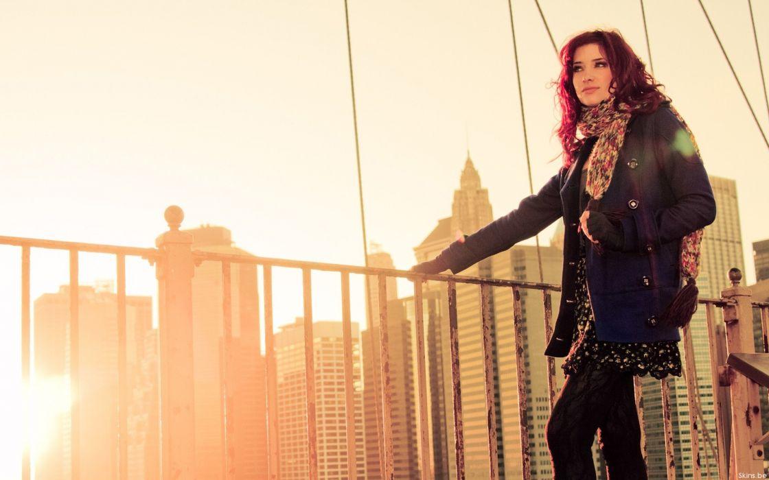 women sunset sunrise Susan Coffey models ModelMayhem wallpaper
