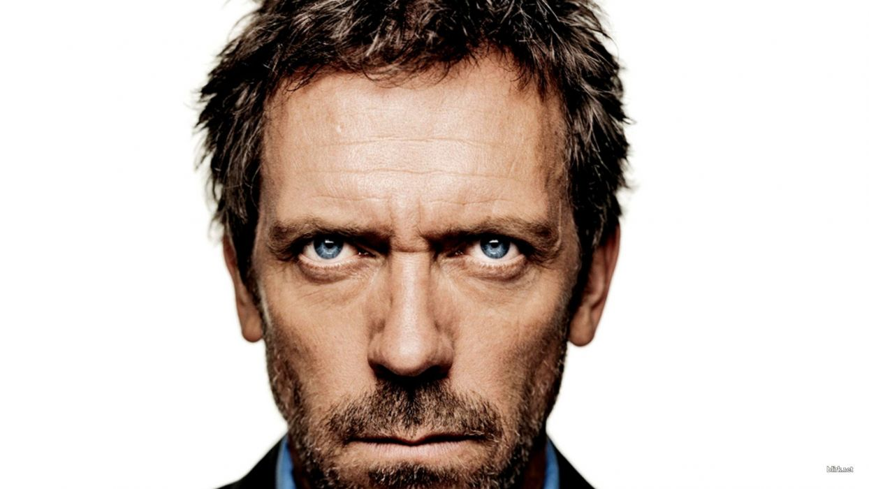 Hugh Laurie Gregory House faces House M_D_ white background wallpaper