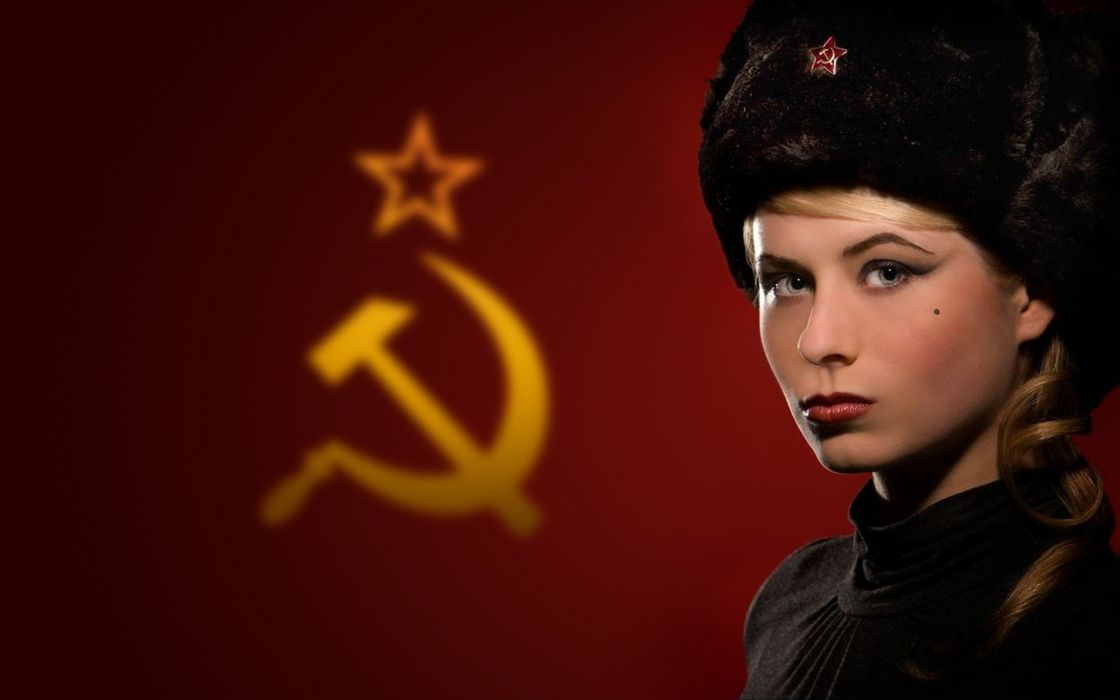 blondes women communism Russia USSR wallpaper
