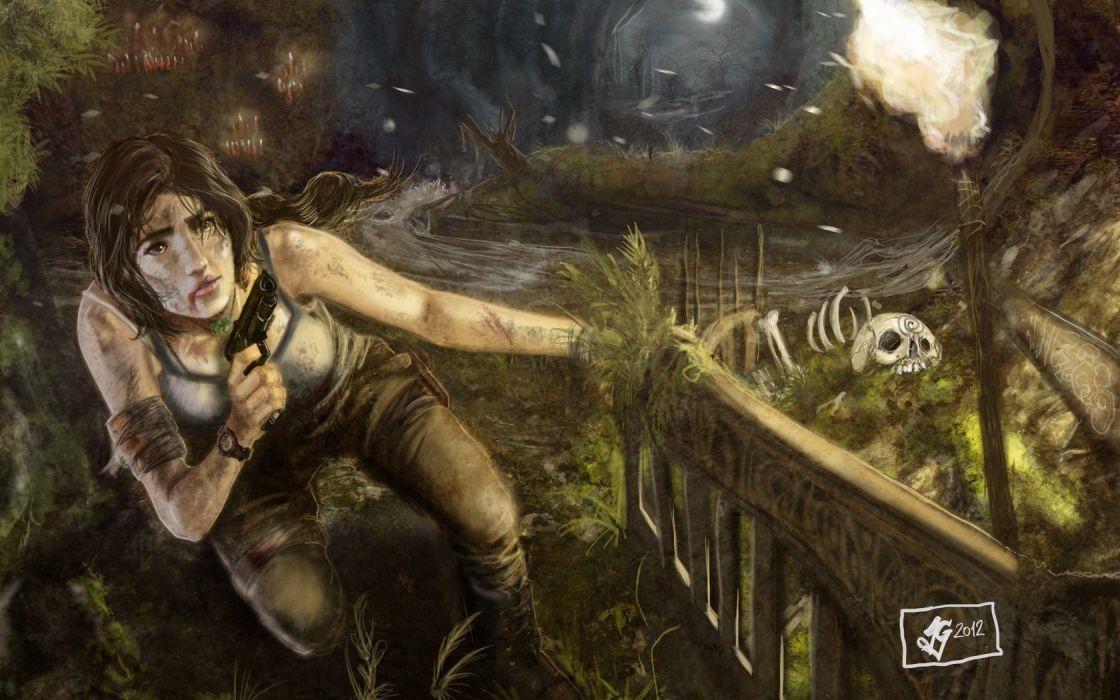 video games Tomb Raider Lara Croft artwork fan art Lara Game Art Tomb Raider Reborn games art wallpaper