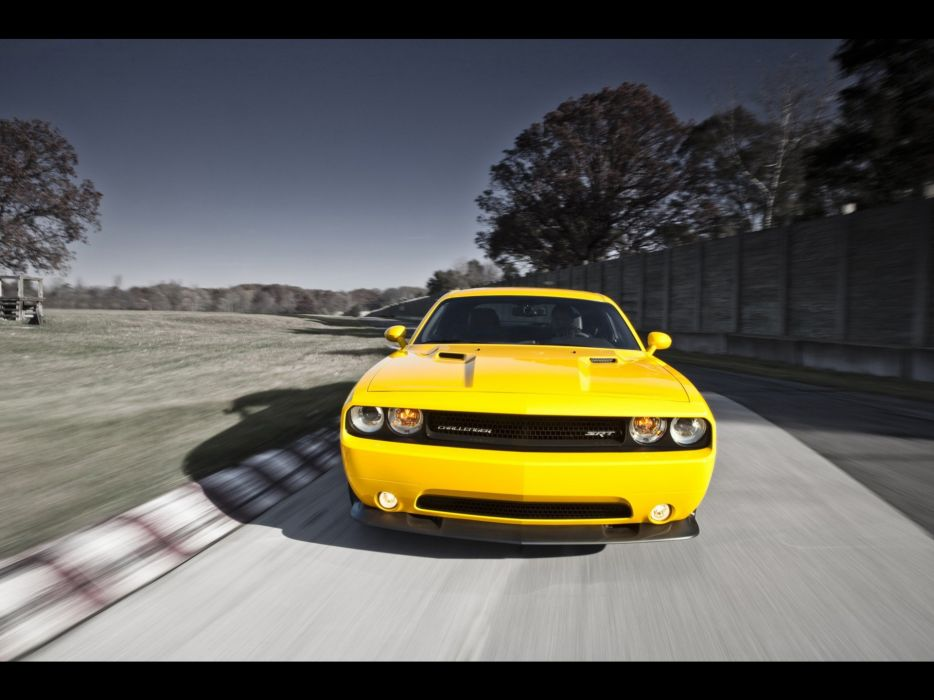 cars jackets Dodge Challenger Dodge Challenger SRT8 yellow cars wallpaper