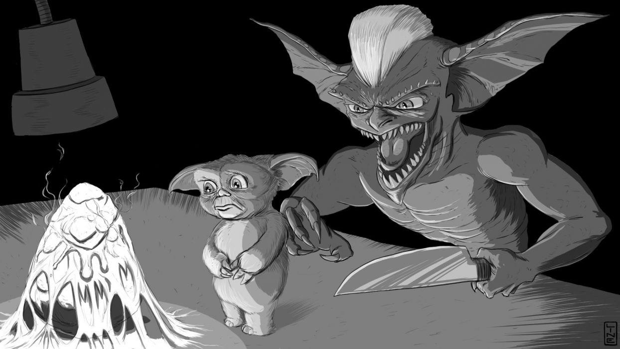 GREMLINS comedy horror creature monster alien (10) wallpaper