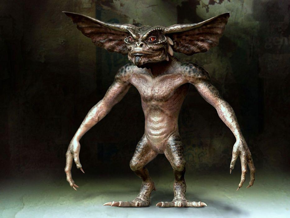 GREMLINS comedy horror creature monster alien (12) wallpaper