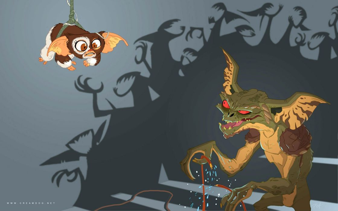 GREMLINS comedy horror creature monster alien (13) wallpaper