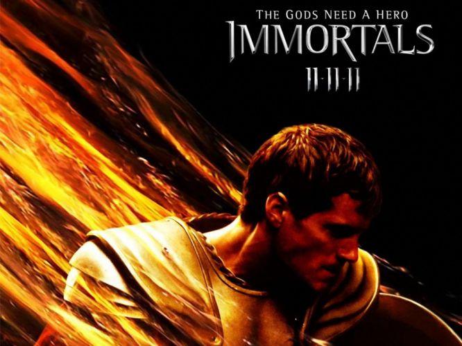IMMORTALS fantasy action adventure movie film warrior poster wallpaper