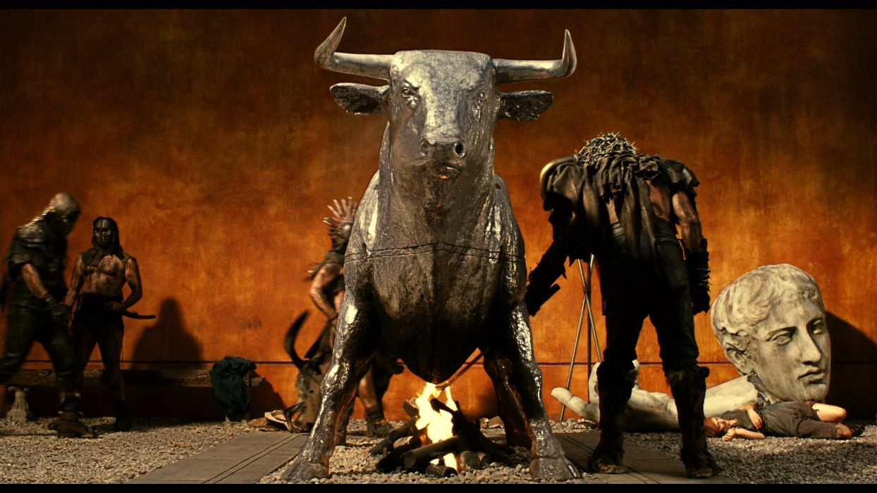 IMMORTALS fantasy action adventure movie film cow statue wallpaper