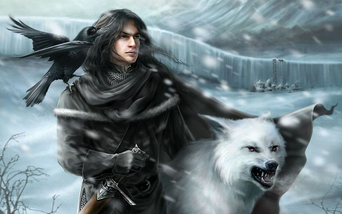 fantasy art A Song of Ice and Fire The Wall Jon Snow George R_ R_ Martin Nights Watch wallpaper
