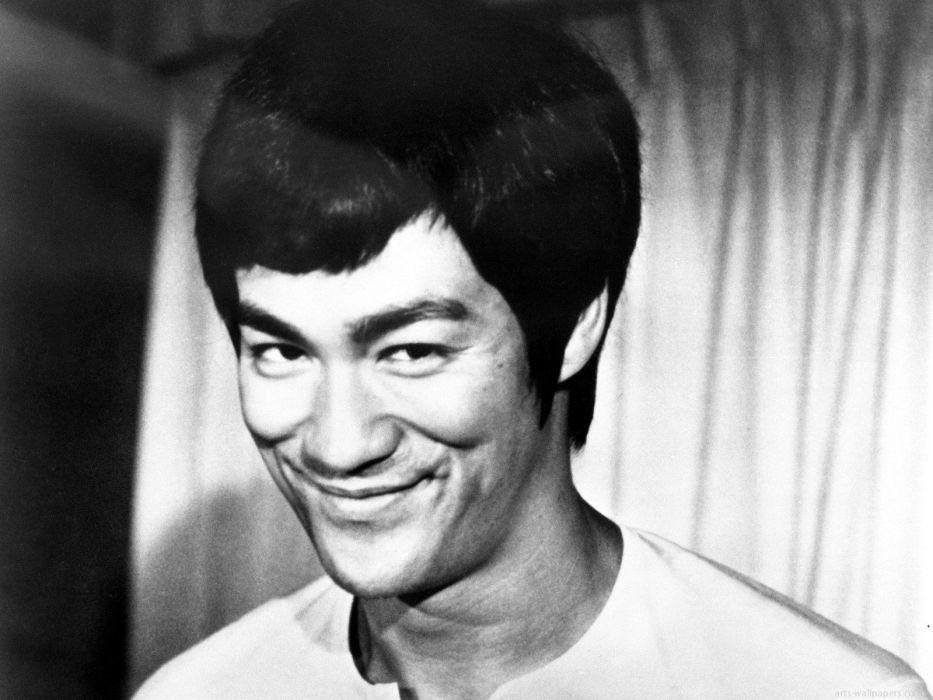 Bruce Lee monochrome wallpaper