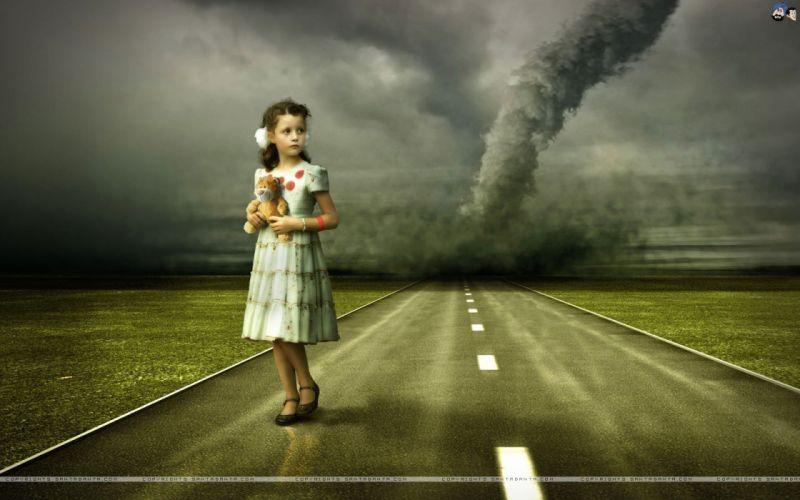women roads Tornado wallpaper