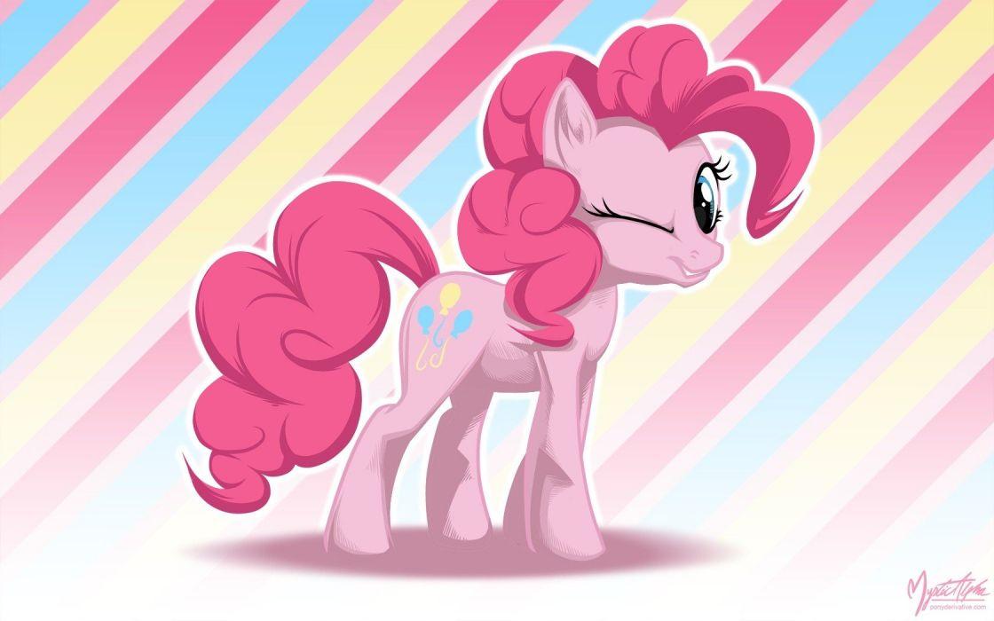 wall My Little Pony wink Pinkie Pie wallpaper