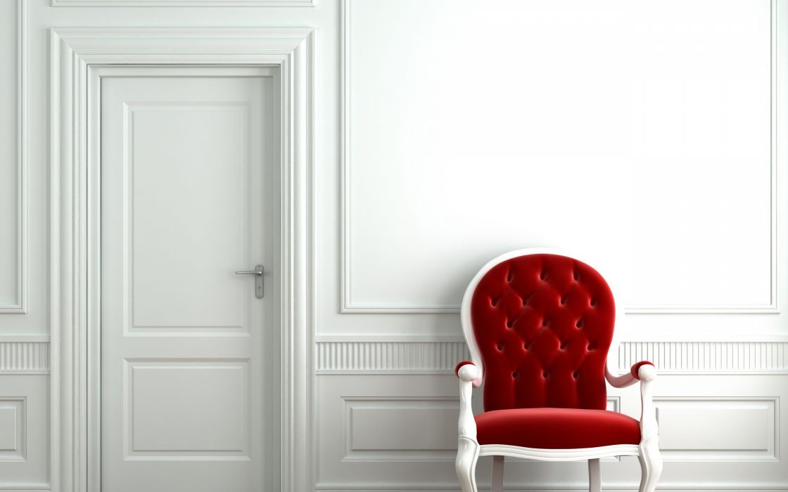 architecture room chairs doors wallpaper