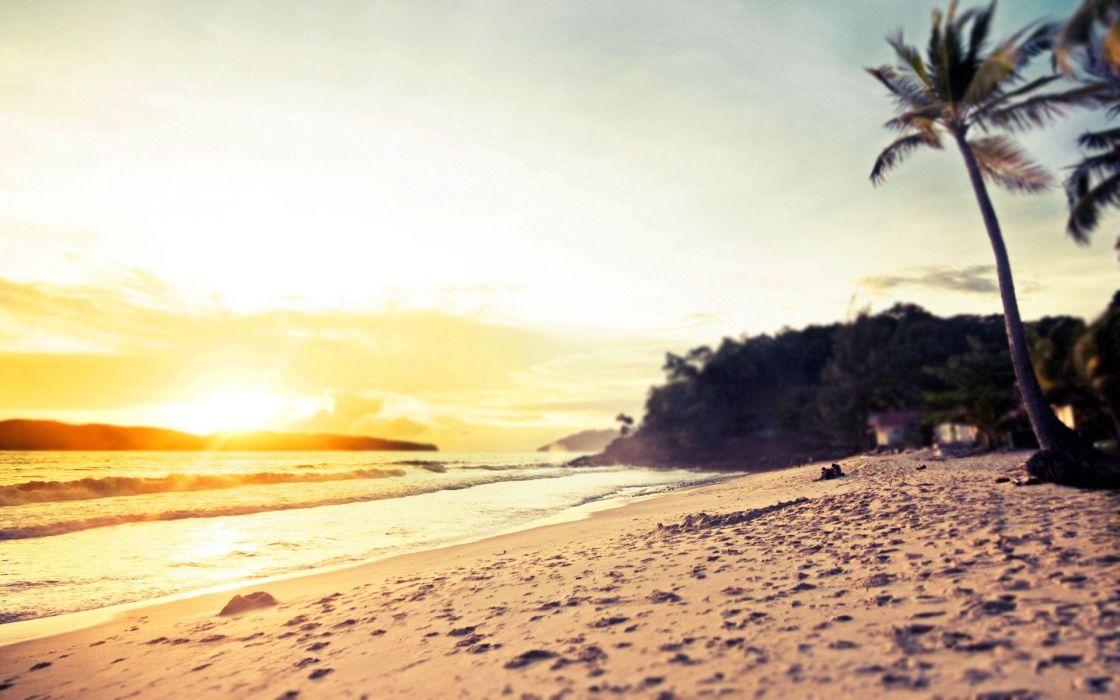 Sun beaches wallpaper