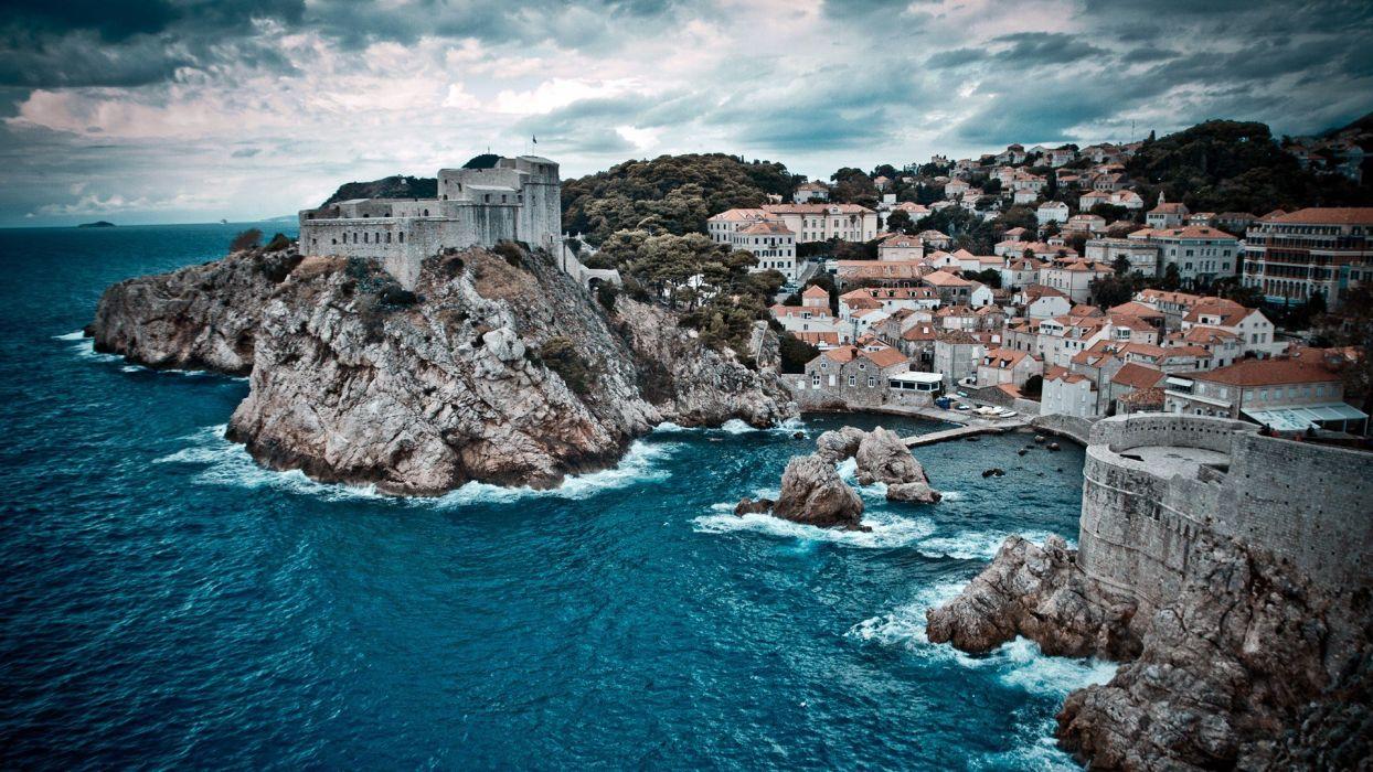 cityscapes islands sea wallpaper