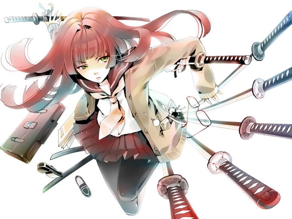 cellphones girls with swords wallpaper