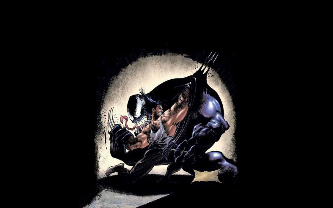 Venom Wolverine Marvel Comics wallpaper