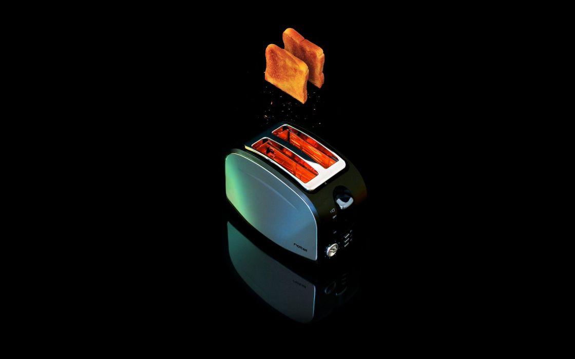 flying toast toaster black background wallpaper
