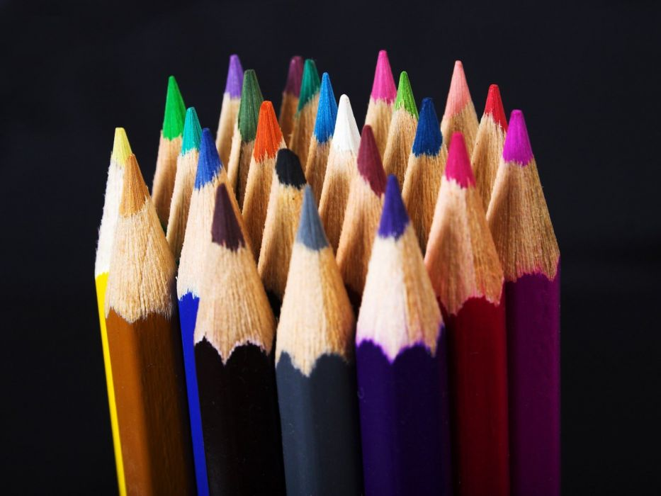 macro pencils white background colors colored pencils wallpaper
