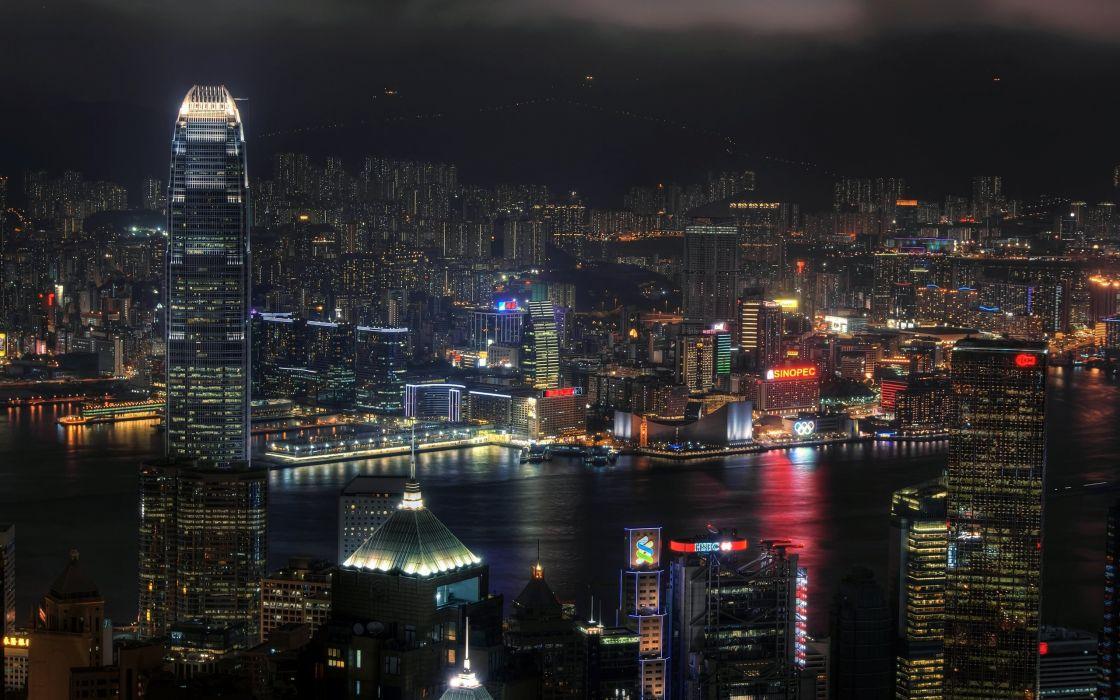 cityscapes Hong Kong wallpaper