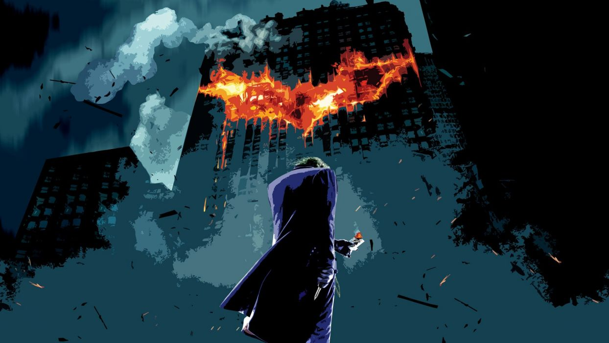 The Joker The Dark Knight photo manipulation wallpaper