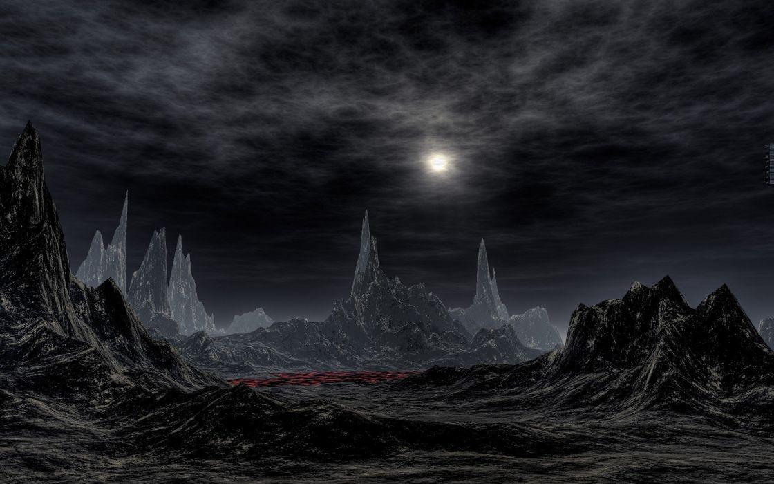 fictional landscapes wallpaper