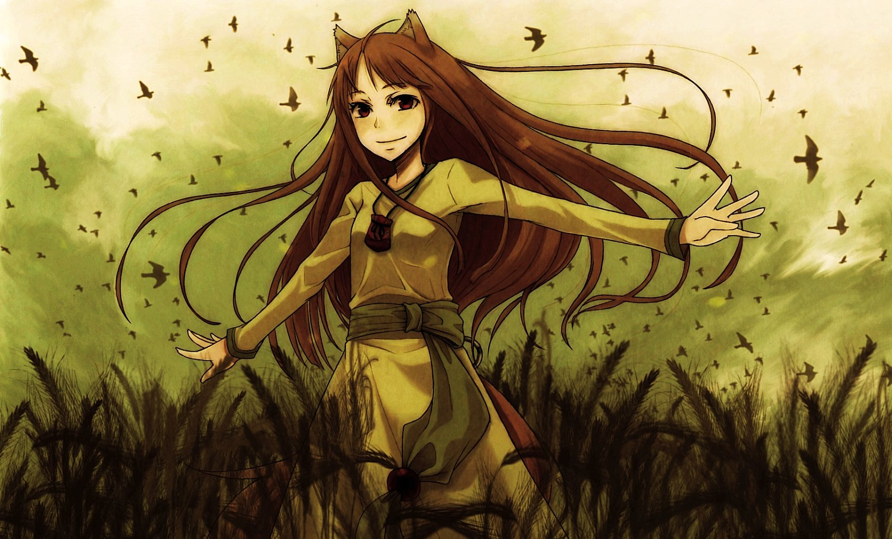 Spice And Wolf Holo The Wise Wolf Wallpaper 1739x1050 252985