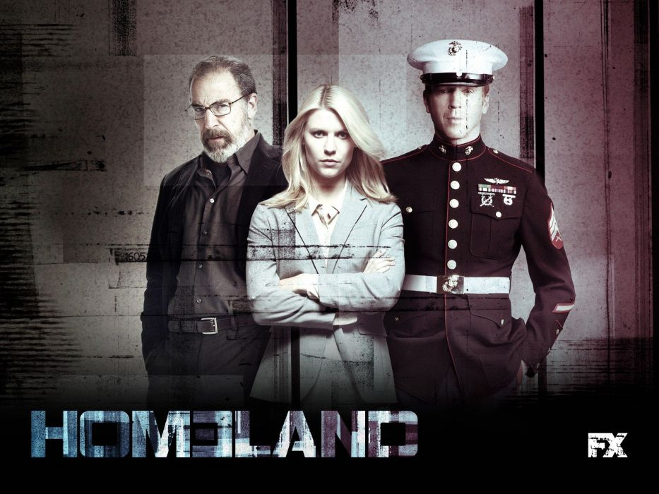 C_I_A_ US Marines Corps Carrie Claire Danes Showtime Damian Lewis Mandy Patinkin TV shows Homeland Carrie Mathison Nicholas Brody Saul Berenson wallpaper