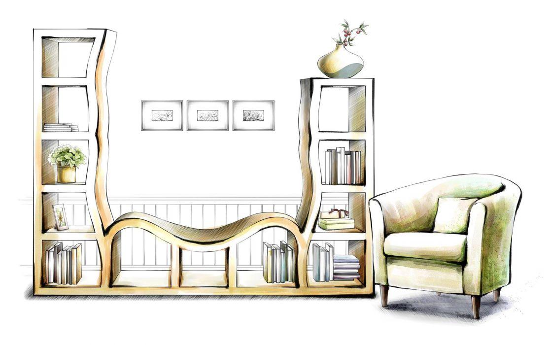 design interior drawings wallpaper