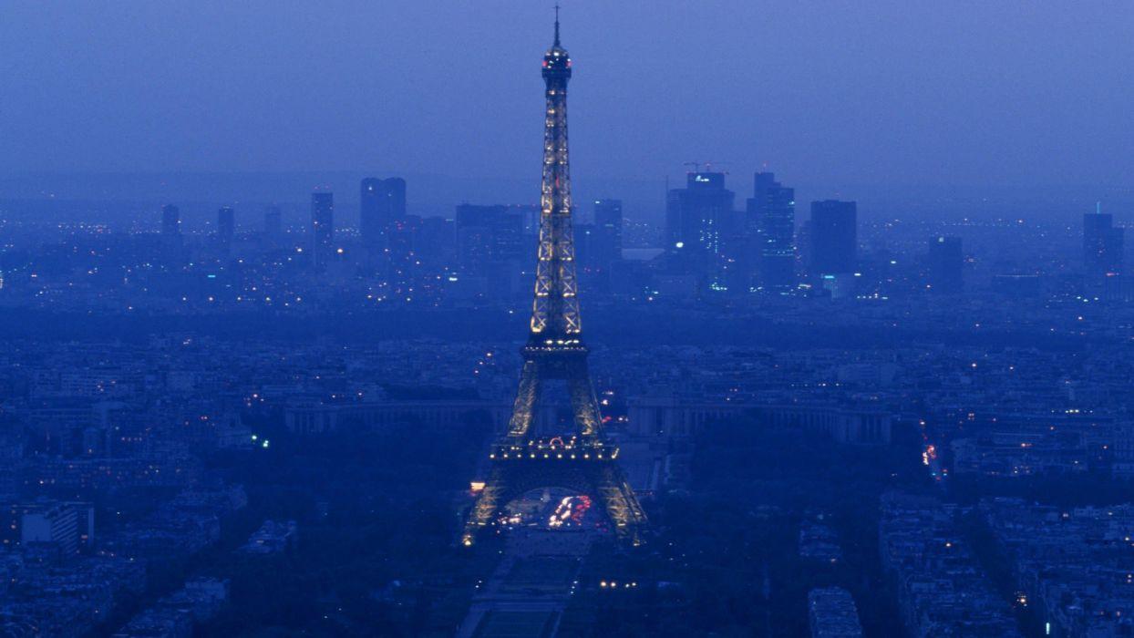 Eiffel Tower Paris night France wallpaper